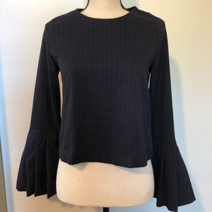 Zara Trafaluc collection bell sleeve top XS